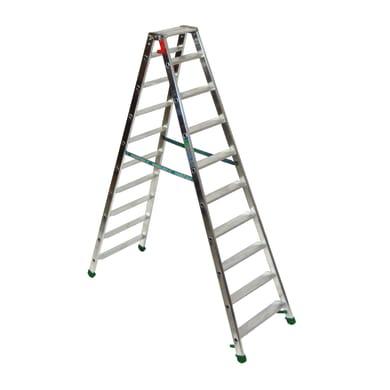 Scala doppia FACAL Dupla in alluminio 9 gradini per lavori fino a 3.2 m