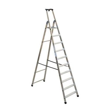 Scala doppia FACAL Quadra in alluminio 10 gradini per lavori fino a 4.1 m