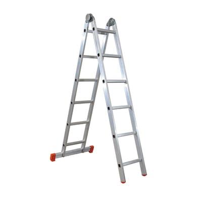 Scala snodata multifunzione FACAL Hobby due in alluminio 6+6 gradini per lavori fino a 4.6 m