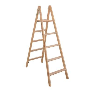 Scala doppia FACAL Pittore in legno 5 gradini per lavori fino a 2.7 m