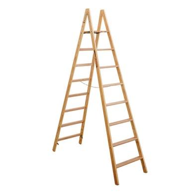 Scala doppia FACAL Pittore in legno 8 gradini per lavori fino a 3.5 m