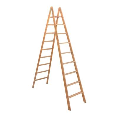 Scala doppia FACAL Pittore in legno 8 gradini per lavori fino a 3.6 m