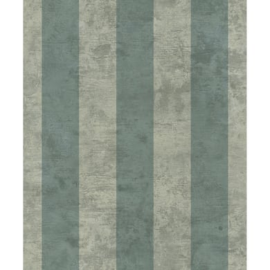 Carta da parati Essentials Stripe verde, 53 cm x 10.05 m