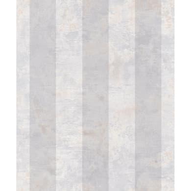 Carta da parati Essentials Stripe grigio, 53 cm x 10.05 m