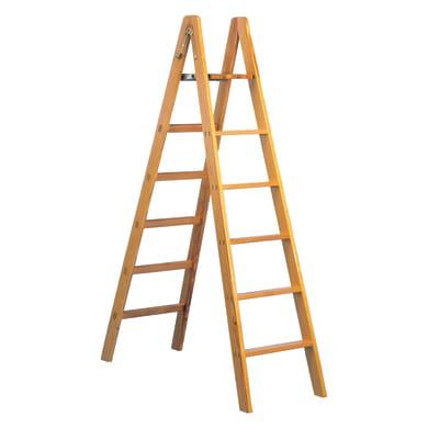 Scala doppia FACAL Pittore in legno 9 gradini per lavori fino a 4 m