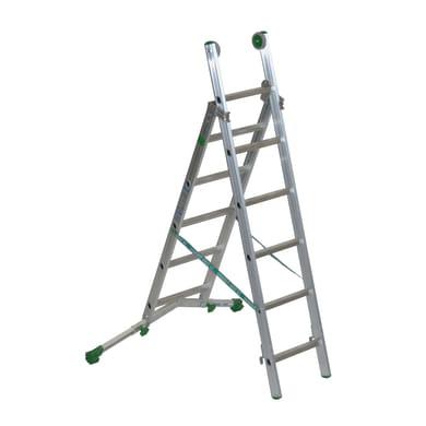 Scala a sfilo FACAL Super Prima 2 rampe in alluminio 2x6 gradini per lavori fino a 3.5 m