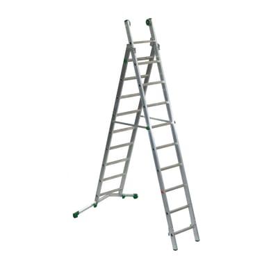 Scala a sfilo FACAL Prima in alluminio 9+10 gradini per lavori fino a 6 m
