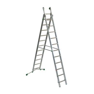 Scala a sfilo FACAL Prima in alluminio 11+12 gradini per lavori fino a 7.2 m