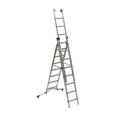 Scala a sfilo FACAL Prima in alluminio 7+8+8 gradini per lavori fino a 6.3 m