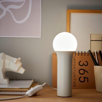 Lampada da tavolo Design Hoki bianco , in metallo, INSPIRE