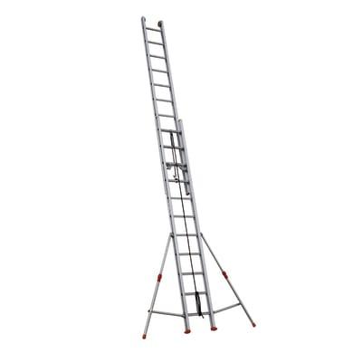 Scala a sfilo con fune FACAL Roller in alluminio 2x11 gradini per lavori fino a 6.8 m
