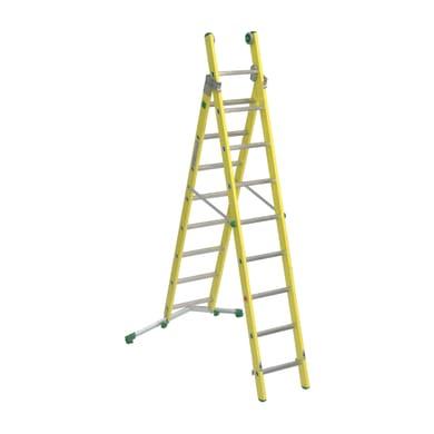 Scala a sfilo FACAL Vetroprima in alluminio 8+9 gradini per lavori fino a 5.7 m