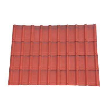 Lastre finto coppo/tegola ONDULINE Onduvilla in bitume 40 x 107 cm, Sp 3 mm rosso