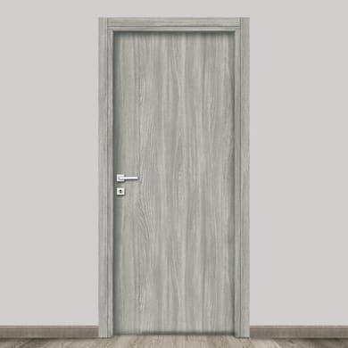 Porta a battente Braque grigio L 90 x H 210 cm reversibile