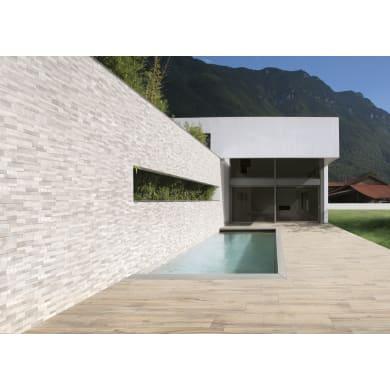 Piastrella da pavimento Volcano white 15 x 61 cm sp. 7.11 mm PEI 5/5 bianco