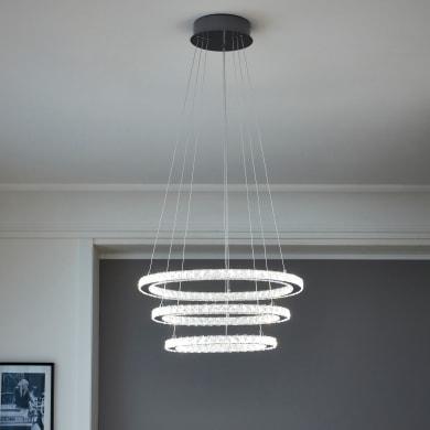 Lampadario Neoclassico Shoshone LED integrato cromo, in metallo, D. 61.5 cm, 3 luci, INSPIRE