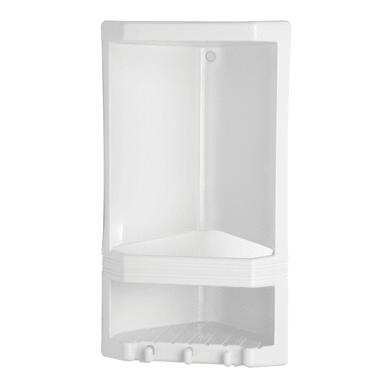 Mensola per bagno Junior L 22 cm bianco