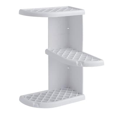 Mensola per bagno Oscar L 23 cm bianco