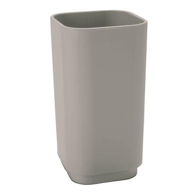 Bicchiere porta spazzolini 63986600300 in plastica tortora chiaro