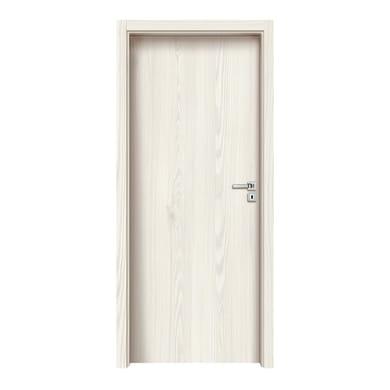 Porta a battente Ivory bianco L 80 x H 210 cm reversibile