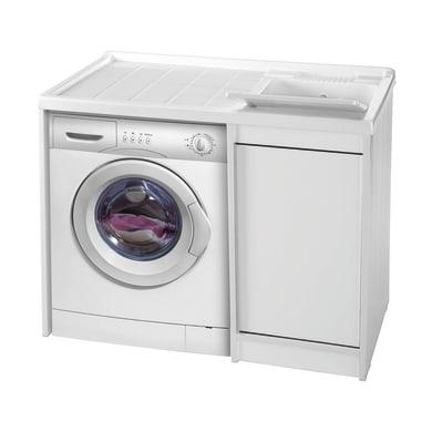 Mobile lavanderia Strong bianco L 108.5 x P 62 x H 93 cm