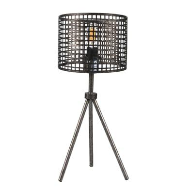 Lampada da comodino Flam nero, in metallo