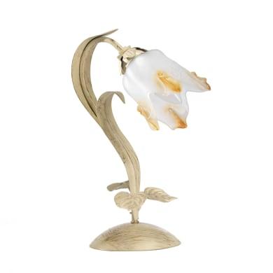 Lampada da comodino Elena oro, in metallo