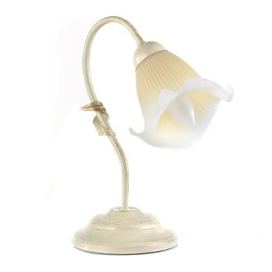 Lampada da comodino Betty bianco, in metallo
