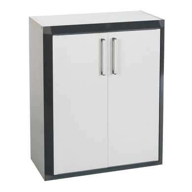 Armadietto basso Thetris Eco L 70.5 x P 40 x H 84.5 cm grigio chiaro e grigio antracite