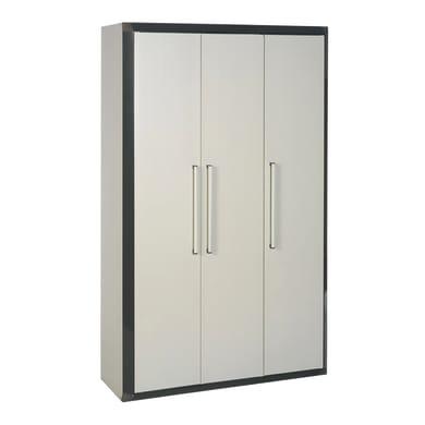 Armadietto alto Thetris Eco L 102 x P 40 x H 169 cm grigio chiaro e grigio antracite
