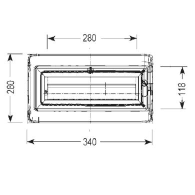 Quadro elettrico vuoto 12 moduli IP65