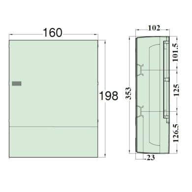 Quadro elettrico vuoto a parete 24 moduli IP40 SCHNEIDER bianco