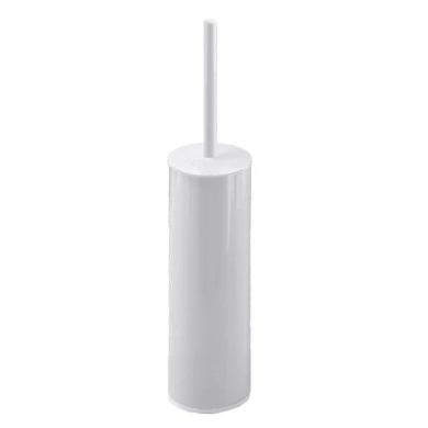 Porta scopino wc da appoggio in acciaio bianco