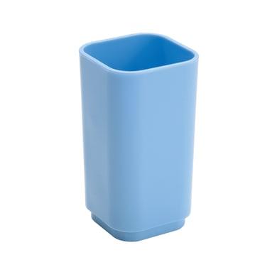 Bicchiere porta spazzolini P.ta spazzolini in plastica celeste