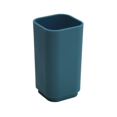 Bicchiere porta spazzolini P.ta spazzolini in plastica blu petrolio