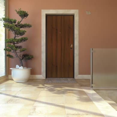 Porta blindata Blocked marrone L 90 x H 210 cm sinistra