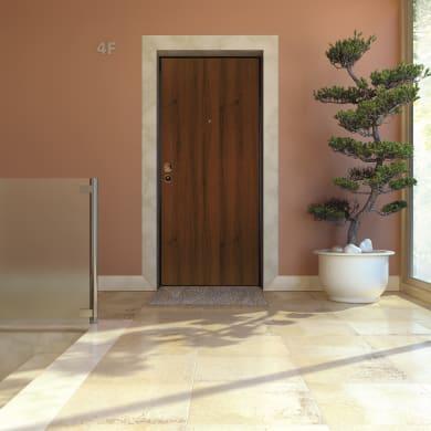 Porta blindata Blocked marrone L 90 x H 210 cm destra