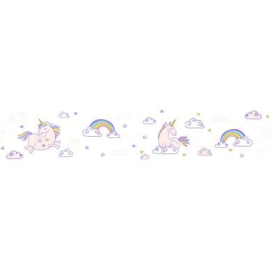 Bordo BORDO ADESIVO UNICORNO BIANCO H13 X 5MT bianco 5 cm x 13 m