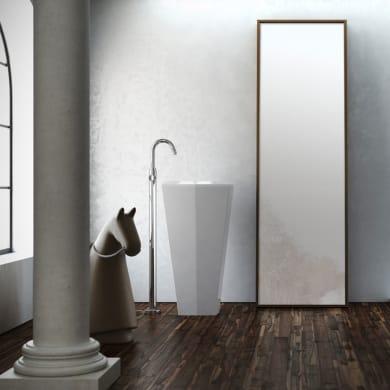 Lavabo Centro Stanza quadrato L 45 x P 45 cm in pietra artificiale bianco