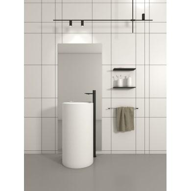 Lavabo Centro Stanza tondo L 45 x P 44 cm in pietra artificiale bianco