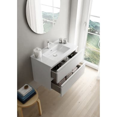 Mobile bagno Pull bianco opaco L 79.5 cm