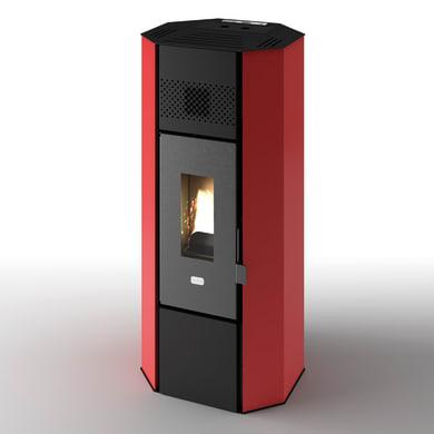 Stufa a pellet ventilata Titti 5 kW rosso