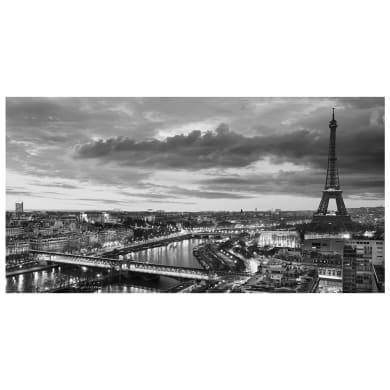 Quadro su tela Parigi in bianco e nero 145x75 cm