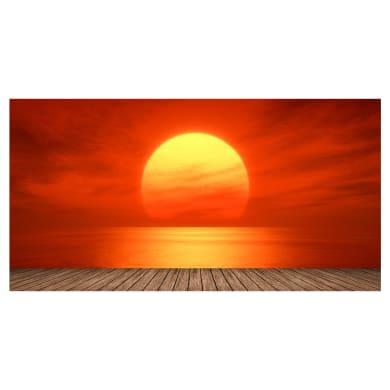 Quadro su tela Sole rosso 145x75 cm