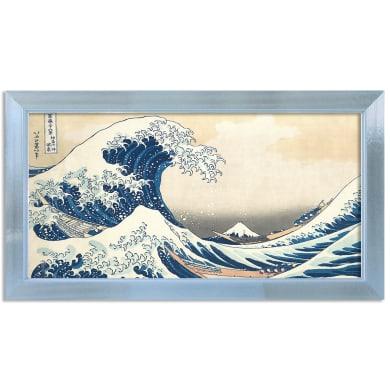 Stampa incorniciata Hokusai La Grande Onda di Kanagawa 136x76 cm