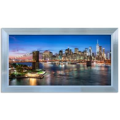 Quadro con cornice New York 136x76 cm