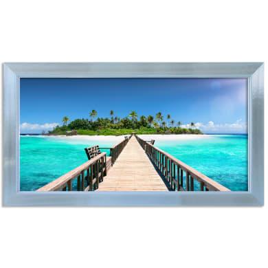 Stampa incorniciata Paradise 136x76 cm