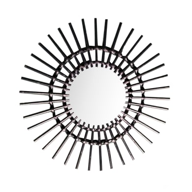 Specchio a parete tondo specchio sienna nero