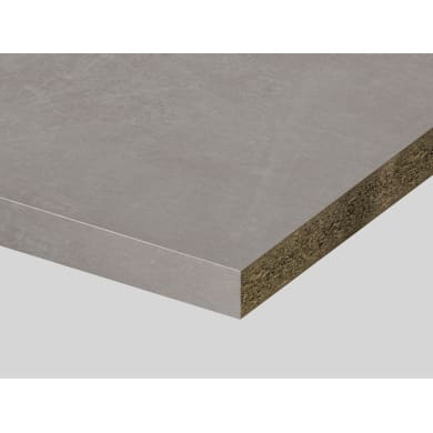 Piano di lavoro in truciolato laminato pietra kombi L 250 x P 60 cm, spessore 3.9 cm