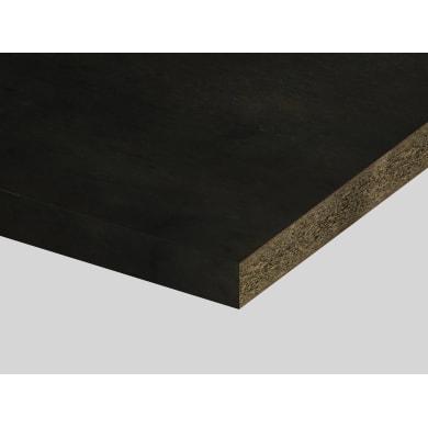 Piano di lavoro in truciolato laminato metallo vulcanico L 250 x P 60 cm, spessore 3.9 cm